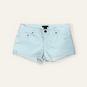 H&M Cream Scallop Lace Jean Shorts w/Real Pockets
